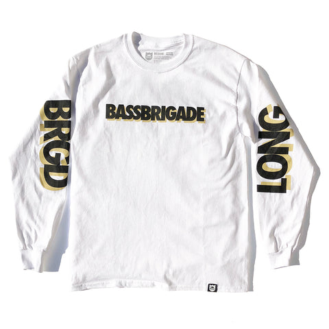 Long Live BRGD LS Tee - White/Black