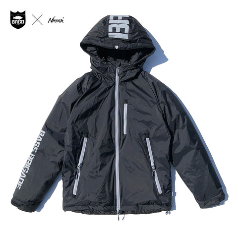 NANGA x Bass Brigade Aurora Down Jacket - Black/Grey