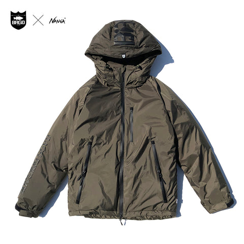 NANGA x Bass Brigade Aurora Down Jacket - Khaki/Black
