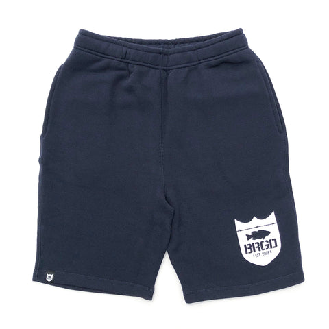 Shield Logo Sweat Shorts - Navy