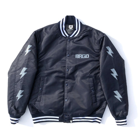 BRGD Division Satin Varsity Jacket - Navy/Grey
