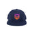 Shield Logo Gradient Snapback Hat - Navy/Sunset