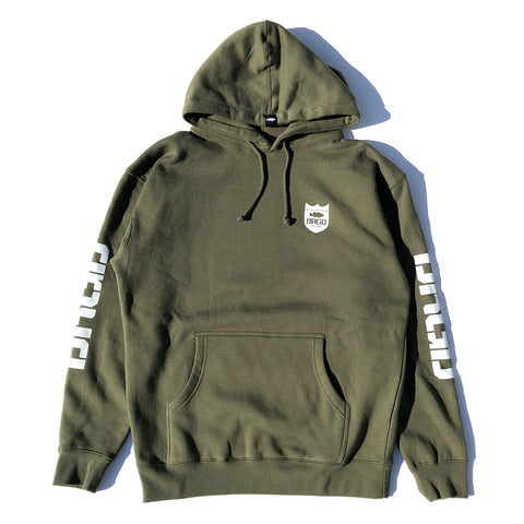 BRGD RIDERS Hoodie - Military Green/White