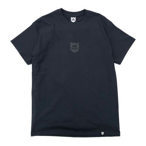 Small Shield Logo Tee - Black/Black