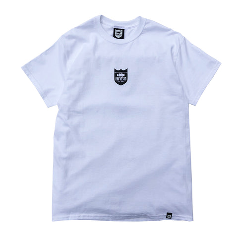 Small Shield Logo Tee - White