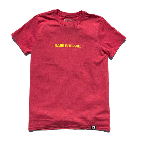 Bass Brigade Premium Soft Tee - Red/Yellow