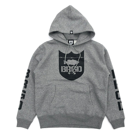 Shield BRGD Hoodie - Heather Grey