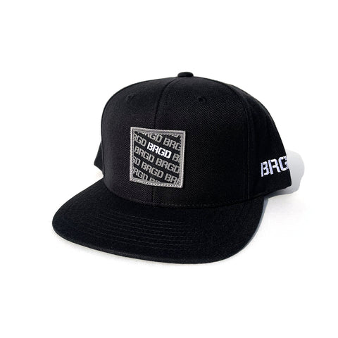 BRGD Pattern Snapback Hat - Black