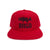 Skeleton Bass Snapback Hat - Red/Black
