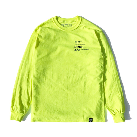Coordinates LS Tee - Safety Green/Black
