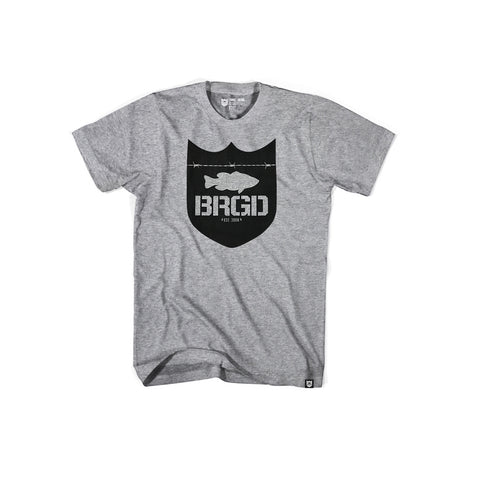 Shield Logo Tee - Athletic Heather/Black