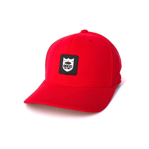 Shield Patch Performance Hat - Red