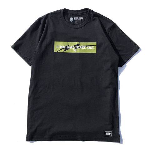 Strike Hard Strike Fast Box Tee - Black