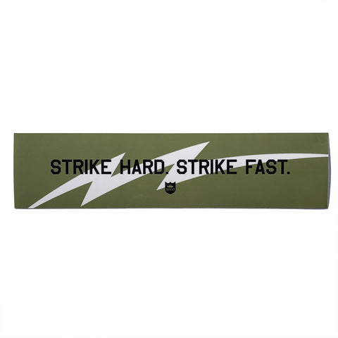 "Strike Hard Strike Fast 8""×2.5"" Sticker - Army"