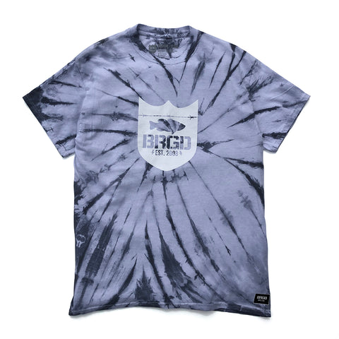 Shield Tie Dye Tee - White