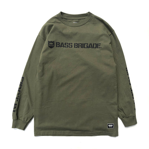 Shield Wordmark LS Tee - Military Green