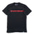 Shield Wordmark Tee - Black/Red