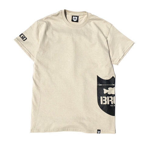 Side Shield Logo Tee - Sand