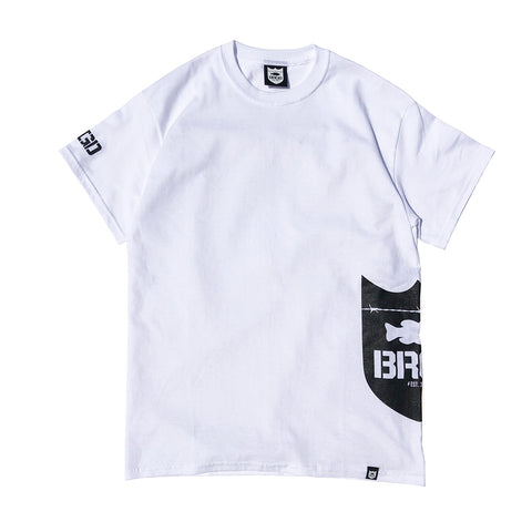 Side Shield Logo Tee - White