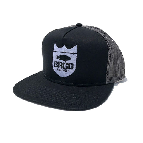 Shield Logo Trucker Hat - Black/Charcoal