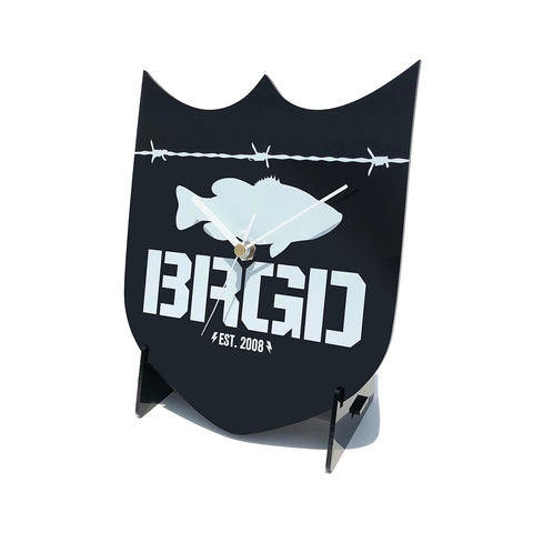 Shield Logo Wall Clock - Black