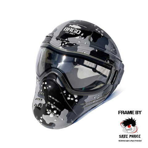 SAVE PHACE × BASS BRIGADE Tactical Mask - Lake Camo Black/Black