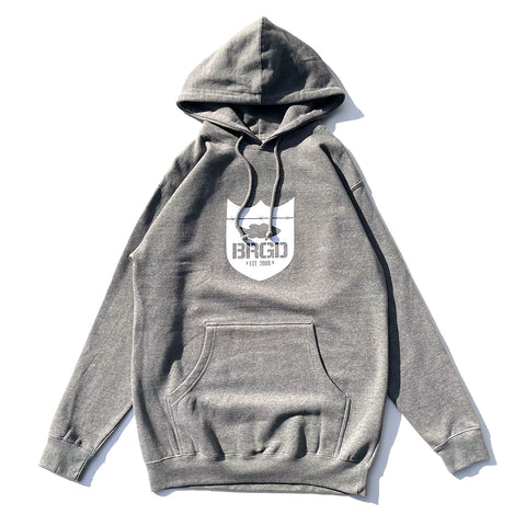 Shield BRGD Pullover Hoodie - Gun Metal Heather