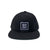 Square Box Snapback Hat - Black