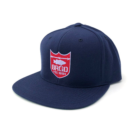 Shield Logo Snapback Hat - Navy/Red