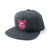 Shield Logo Snapback Hat - Dark Grey/Red