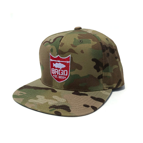 Shield Logo Snapback Hat - Multi Cam