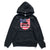 Stars and Stripes Shield Hoodie - Black
