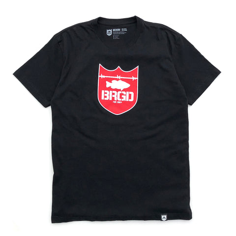 Shield Logo Tee - Black/Red
