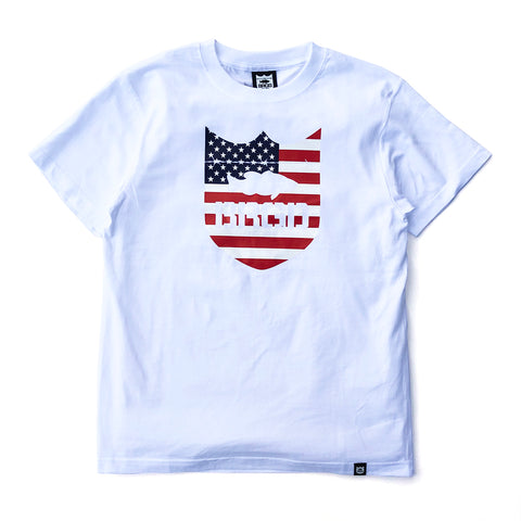 Stars and Stripes Tee - White/Red