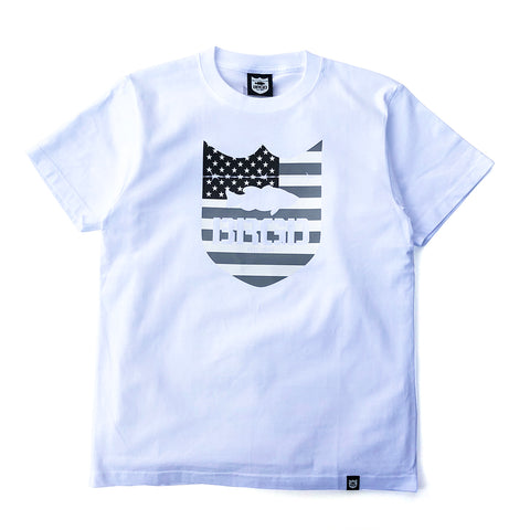 Stars and Stripes Tee - White/Grey