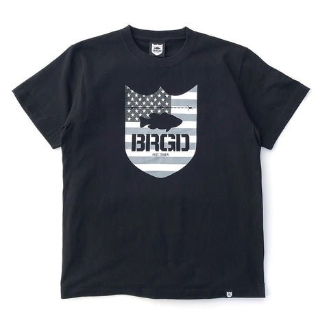 Stars and Stripes Tee - Black/Grey