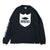 Shield Wordmark L/S Tee - Black/White