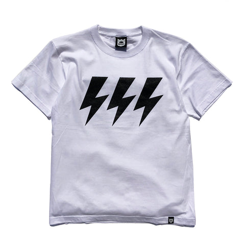 Three Bolt Tee - White/Black