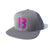 The B Gradient Snapback Hat - Silver