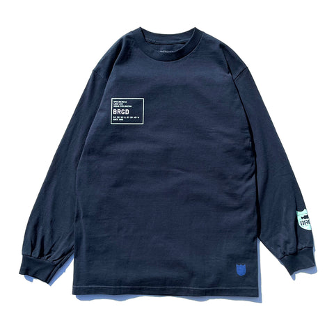 Urban Explorer L/S Tee - Navy Blue/Celadon & White