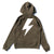 Wired Bolt Hoodie - Olive/White