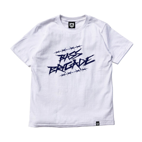 Wired BRGD Tee - White/Royal
