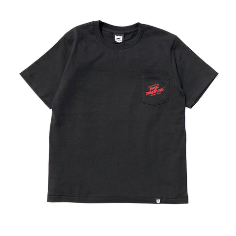 Wired BRGD Pocket Tee - Black/Red