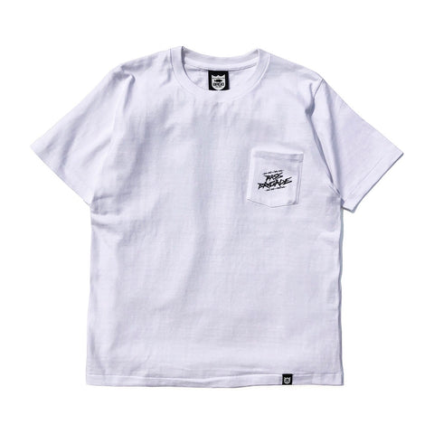 Wired BRGD Pocket Tee - White/Black