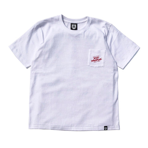 Wired BRGD Pocket Tee - White/Red
