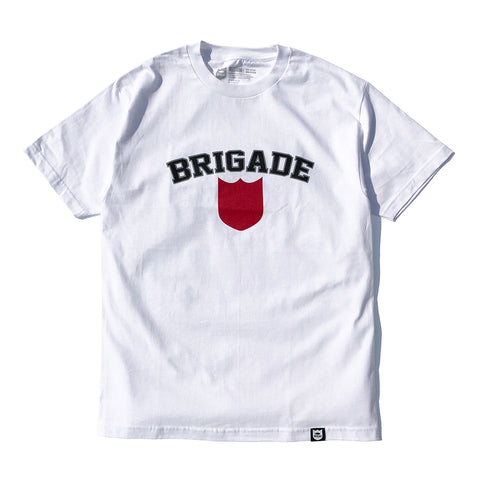 Bold Shield Tee  - White