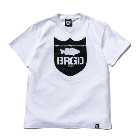 Shield Logo Tee - White/Black