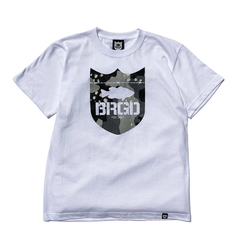 Lake Camo Shield Logo Tee - White/Lake Camo Black