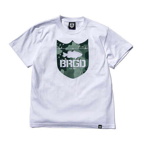Lake Camo Shield Logo Tee - White/Lake Camo Green
