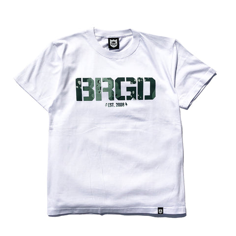 Lake Camo Brgd Logo Tee - White/Lake Camo Green